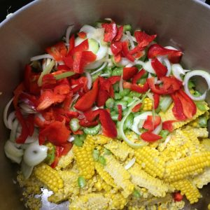 Photo of the ingredients for Grandma Bees Corn Relish