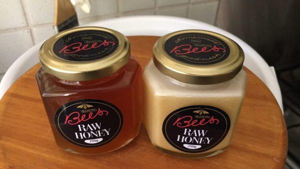 Photo of jars of Grandma Bees honey